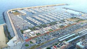 Vista del Puerto de Mataró.