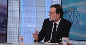 El presidente del Gobierno, Mariano Rajoy, en la entrevista en Los Desayunos de TVE.