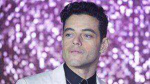 Rami Malek, en la presentación de 'Bohemian rhapsody' en Londres, el pasado 23 de octubre