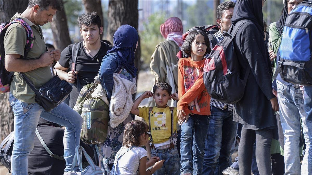 Refugiados en Grecia.