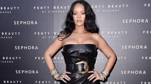 Rihanna presentasu nueva colecciónFenty Beauty by Rihanna para Sephora, en Milán.