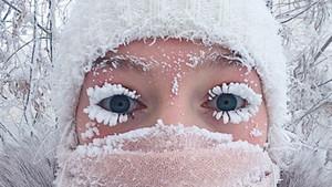 La rusa Anastasia Gruzdeva se hizo viral con el selfi de las pestañas congeladas.