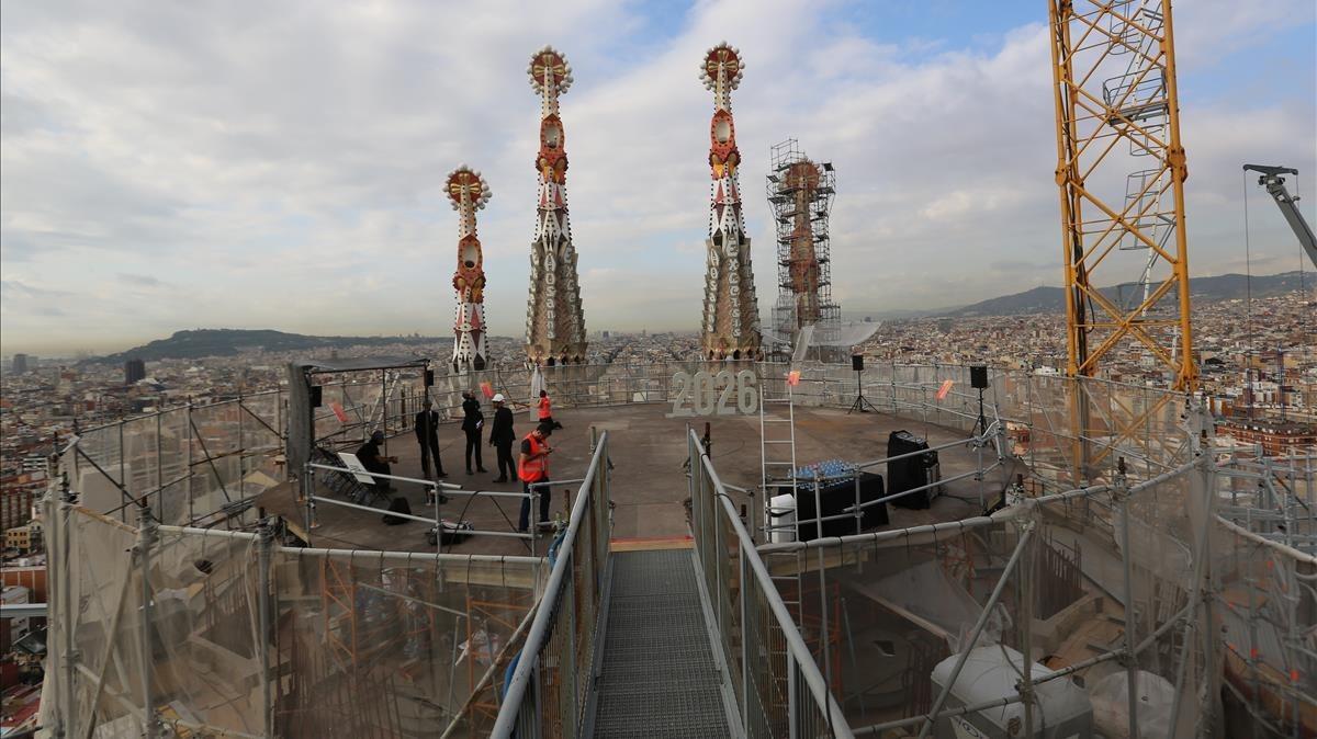 La Sagrada Família construye nuevos accesos por seguridad.