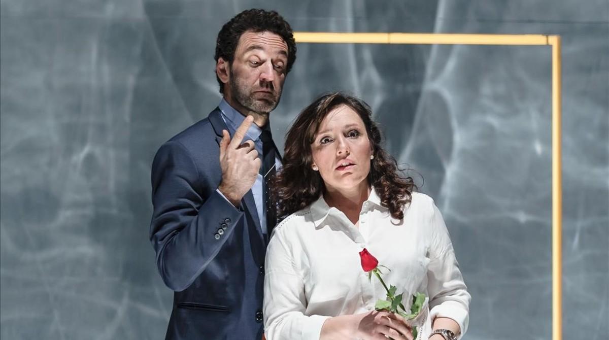 Sébastien Soules y Elena Copons, en la representación de DisPLACE.