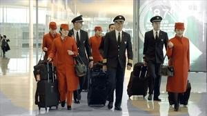 El personal de una compañía de aviación, en 'Aeroport' (TV-3).