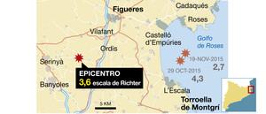 Registrado un terremoto de 3,6 grados cerca de Banyoles