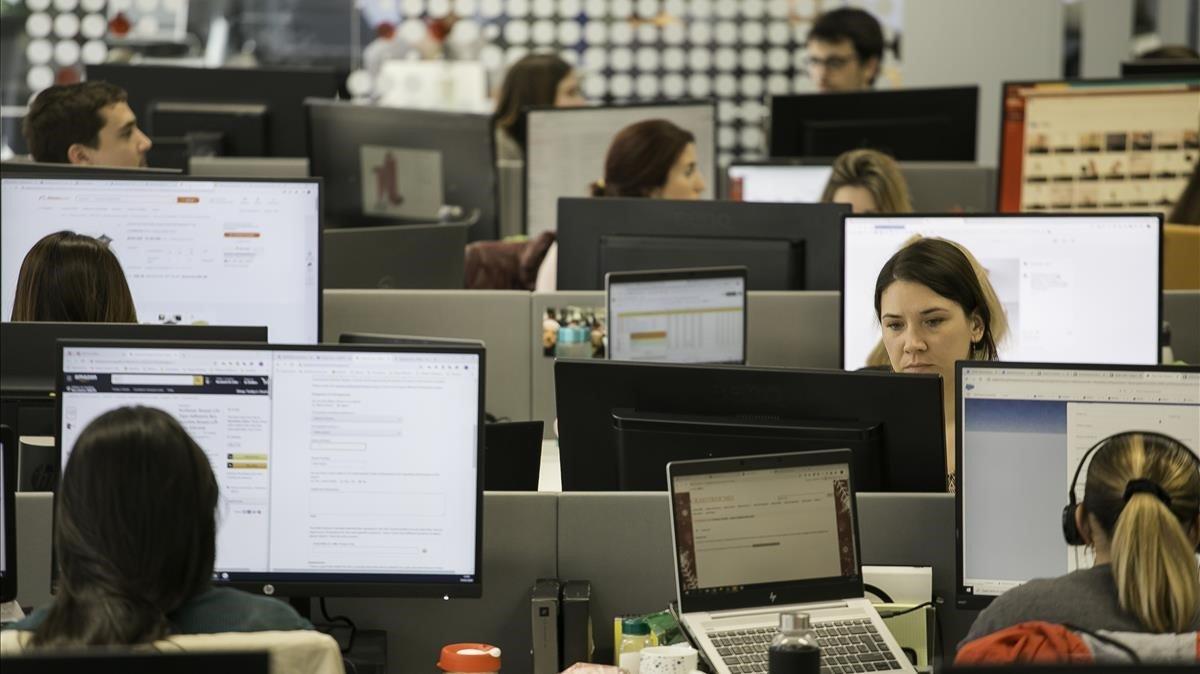 Trabajadores en oficinas
