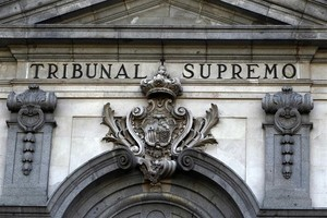Foto de archivo de la fachadadel Tribuanl Supremo.