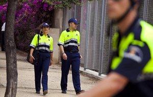 Una patrulla de la Guardia Urbana de LHospitalet.