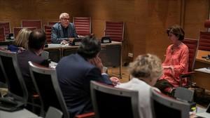 El candidato a consejero de RTVE Fernando López Agudín (propuesto por PSOE, Podemos y PNV) comparece ante la comisión de Nombramientos del Senado, este martes.