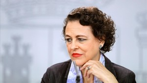La ministra de Trabajo, Migraciones y Seguridad Social, Magdalena Valerio, este viernes.