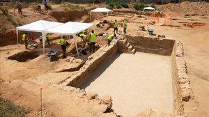 Trobades restes de l'antiga ciutat romana de Baetulo en un solar de Badalona