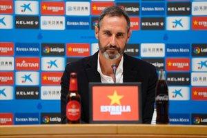Vicente Moreno, en su presentación como nuevo técnico del Espanyol