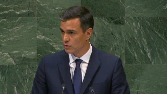 """Sánchez alerta l'ONU contra els """"missatges nacionalistes"""""""