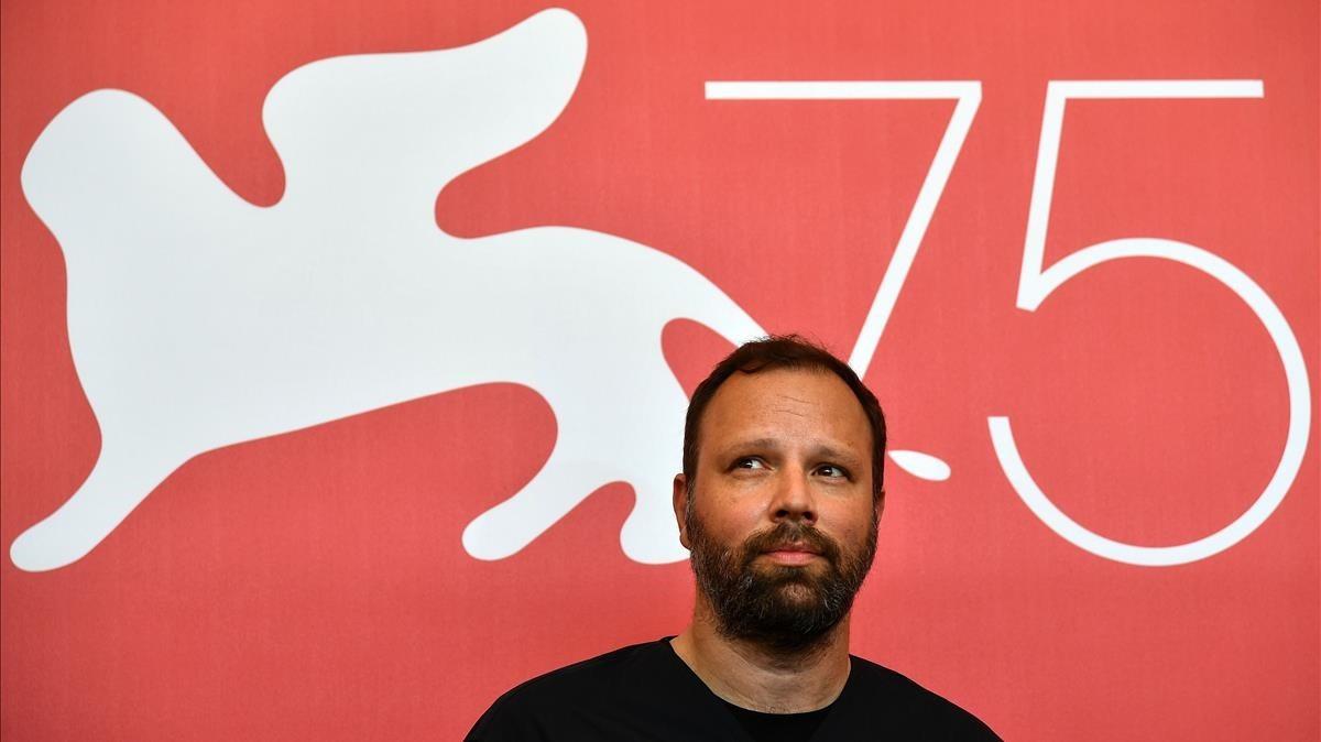 El director Yorgos Lanthimos en el Festival de Venecia