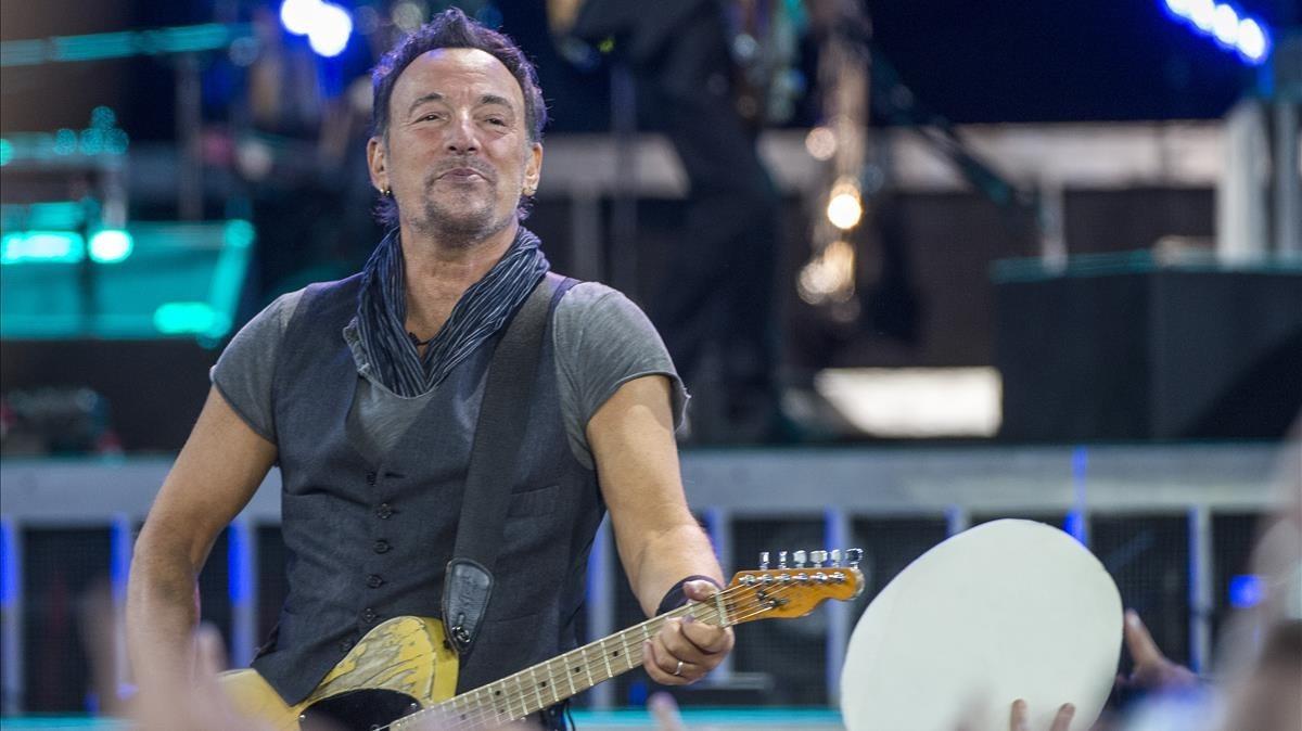 Bruce Springsteen, durante el concierto de mayo del 2016en Barcelona.