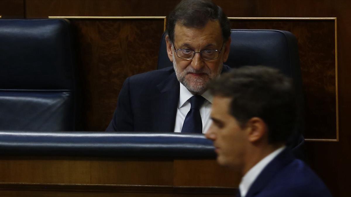 """Rivera: """"Estic molt tranquil pels comptes del meu partit, més que el senyor M. Rajoy"""""""