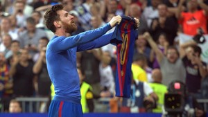 La última imagen icónica de Messi: el estadio Bernabéu la temporada 2016-2017.