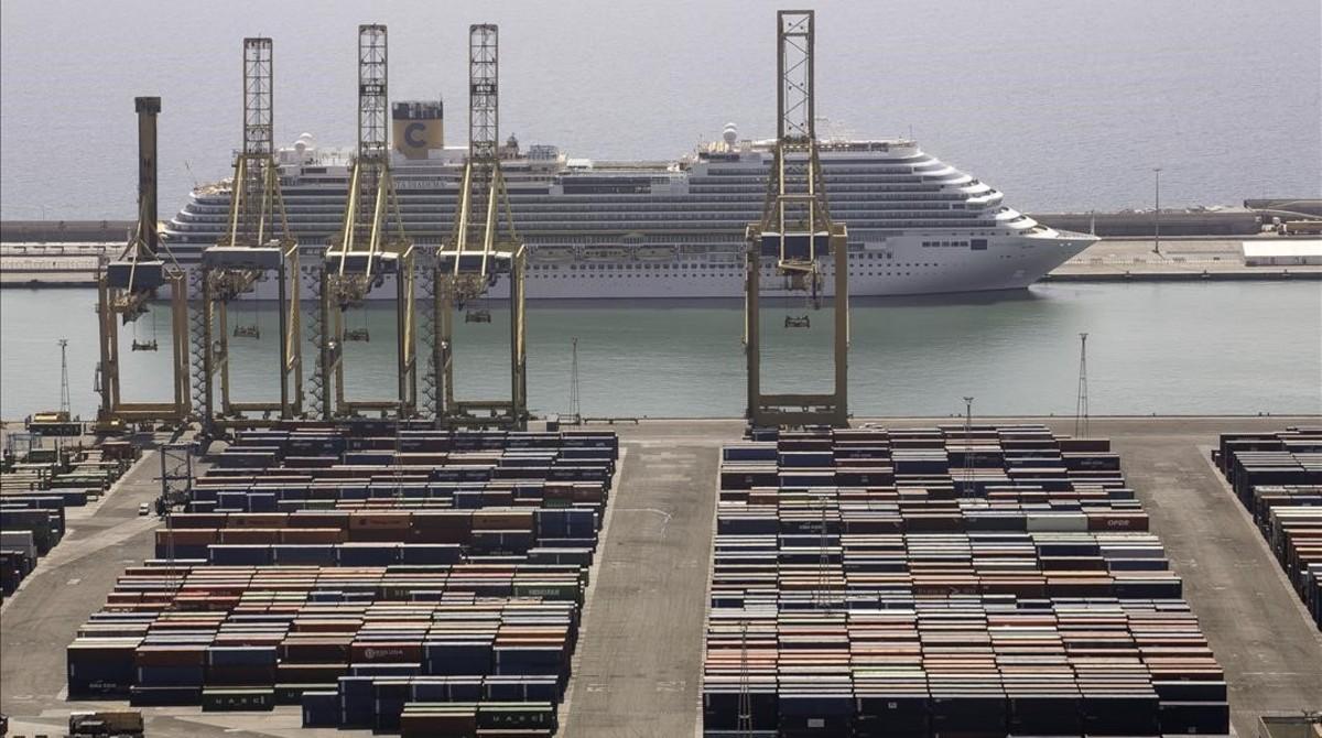 Rècord del port de Barcelona