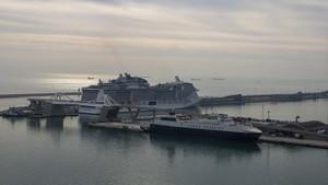 Cruceros en el muelle Adossat, en enero del 2018.