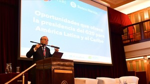 Fainé, durante su intervención en Buenos Aires.