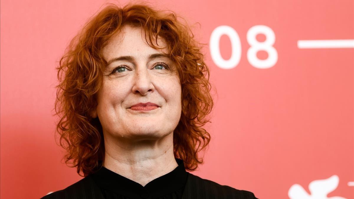 La directora australiana Jennifer Kent, durante la presentación de The Nightingale en la Mostra de Venecia.