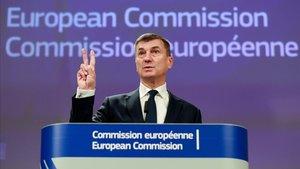 El comisario europeo de Mercado DigitalAndrus Ansip.