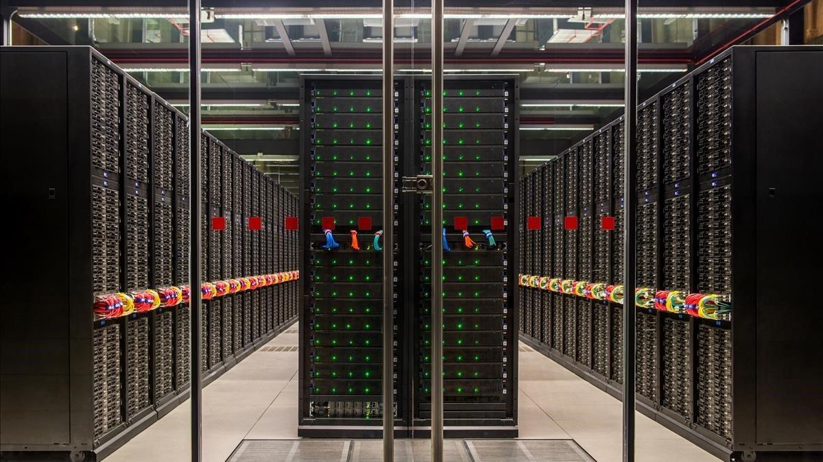 Imagen del superordenador 'Marenostrum' del Barcelona Supercomputing Center
