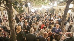 Ambiente en la fiesta del 50 aniversario de Anagrama, la semana pasada.