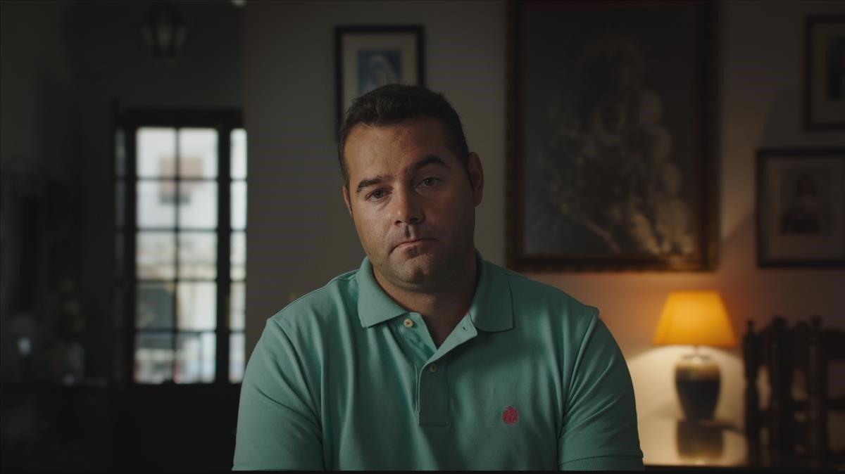 Francisco Javier Medina, acusado y absuelto del doble crimen de Almonte, en una imagen de 'Bajo escucha'.