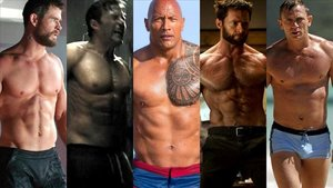 Chris Hemsworth, Ben Affleck, Dwayne Johnson, Hugh Jackman y Daniel Craig.