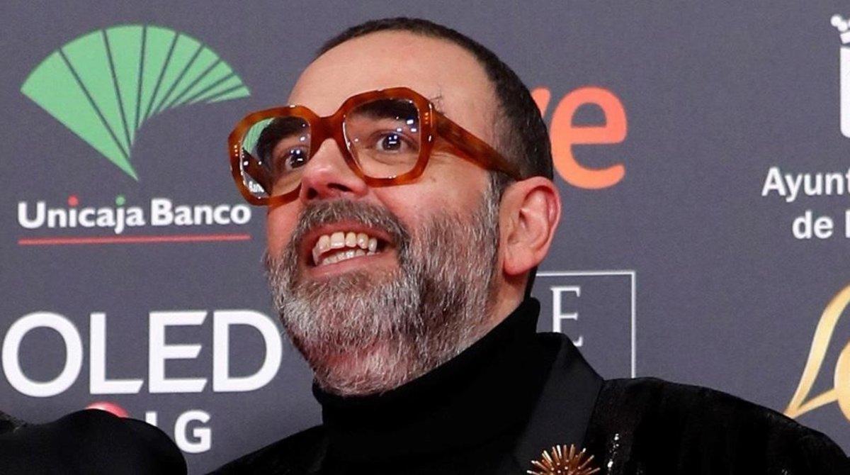 Bob Pop, a su llegada a la entrega de los Premios Goya 2020.
