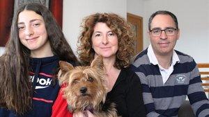 Tres miembros de la familia Buchaca-Valdés, de Igualada, que han superado el coronavirus.