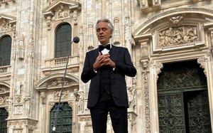El cantante italiano Andrea Bocelli
