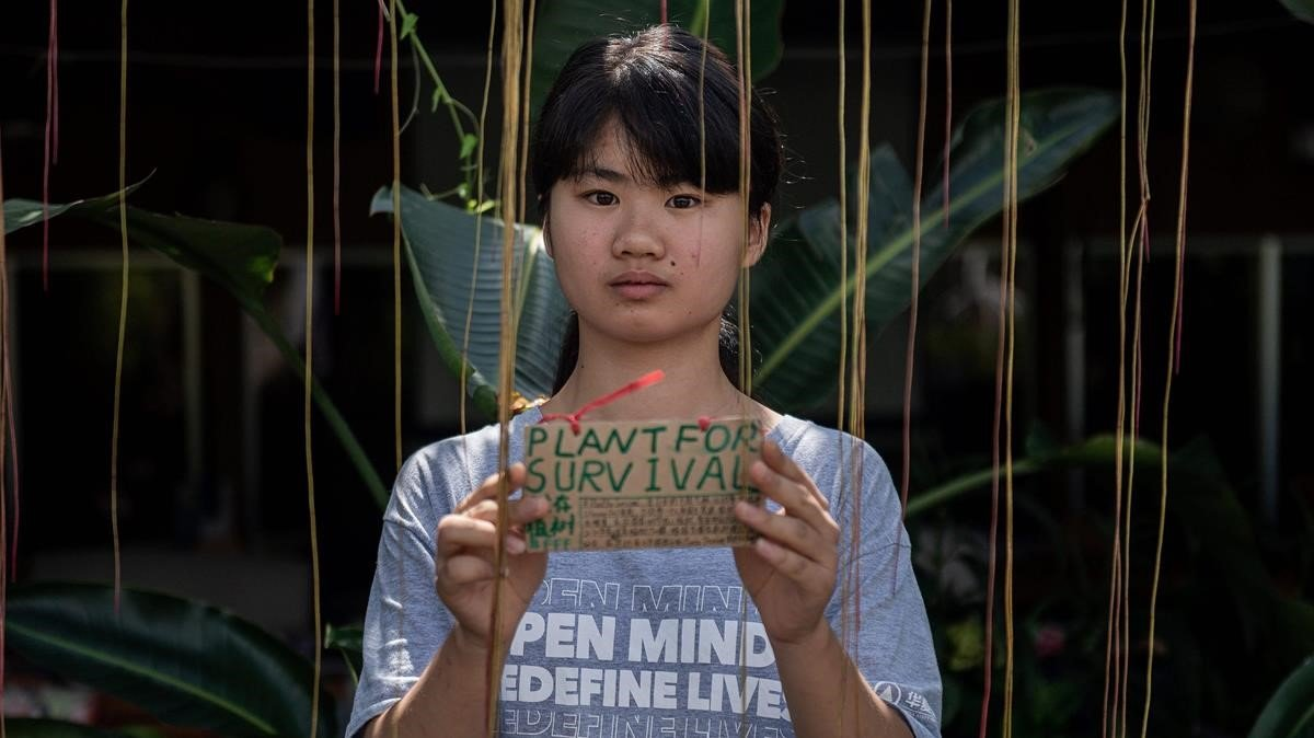 Així és la lluita de 'la Greta Thunberg xinesa'