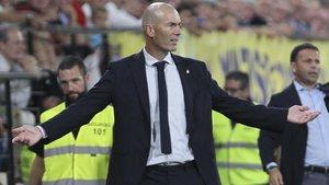 Zidane, en un partido de Liga de esta temporada.