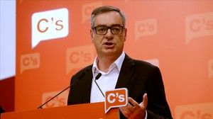 José Manuel Villegas, la noche de las segundas elecciones, en la sede de Ciudadanos.