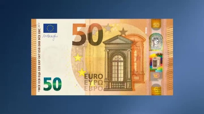 Foto de un billete de 50 euros 68