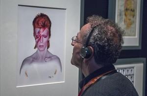 Exposición  DAVID BOWIE IS  en el Museu del Disseny de Barcelona.