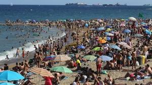La playa de la Barceloneta, el pasado mes de julio.
