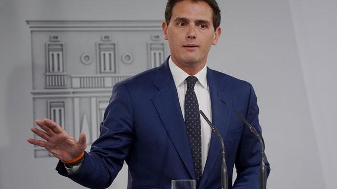 """Rivera apressa Sánchez a aplicar """"ja"""" el 155 a Catalunya"""