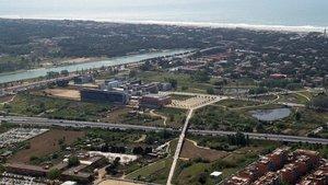 El accidente se produjo en los alrededores del Canal Olímpic y la Zona Universitaria de Castelldefels