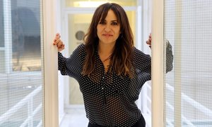 La actriz Melani Olivares, en la presentación de la serie Benvinguts a la família.