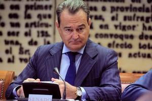 El secretario de Estado de Defensa Agustín Conde durante su comparecencia ante la Comisión de Defensa del Senado.