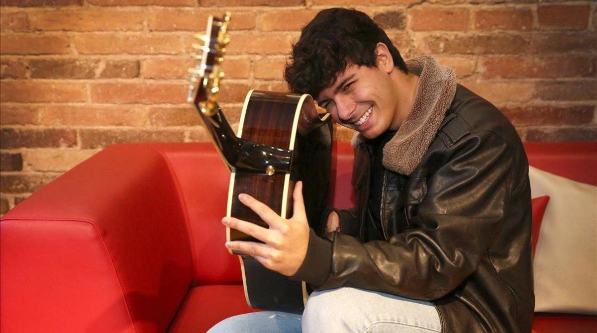 El cantante Alfred García, el martes, 11, en el Hotel Petit Palace Museum de Barcelona.