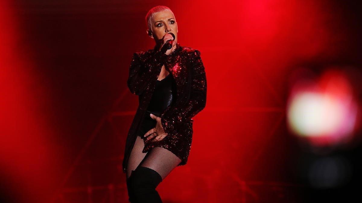 Ana Torroja en el concierto de la gira 'Yo fui a EGB'.
