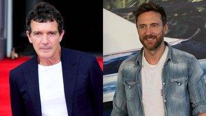 El actor Antonio Banderas y el DJ David Guetta.