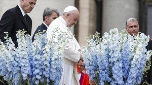 El Papa Francisco en la celebración del Domingo de Resurrección en el Vaticano.