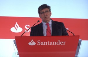 El consejero delegado del Santander, José Antonio Alonso, durante la presentación de resultados.