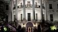 Obama entra a la Casa Blanca por el ala sur, en marzo pasado.